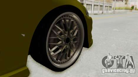Honda Civic Fast and Furious для GTA San Andreas вид сзади