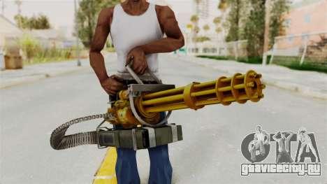 Minigun Gold для GTA San Andreas третий скриншот