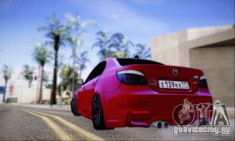 BMW M5 E60 Huracan для GTA San Andreas вид справа