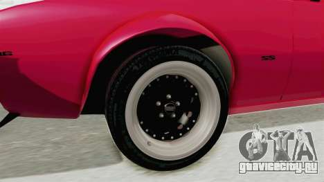 Chevrolet Camaro SS 1968 для GTA San Andreas вид сзади