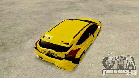 Ford Focus Taxi для GTA San Andreas вид сзади