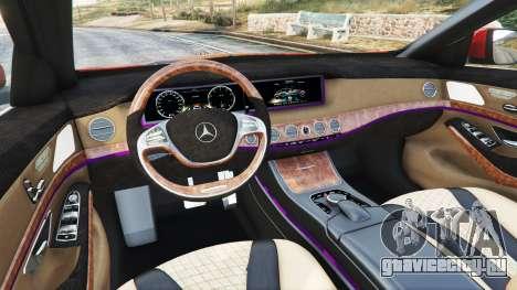 Mercedes-Benz S500 (W222) [bridgestone] v2.1 для GTA 5 вид спереди справа