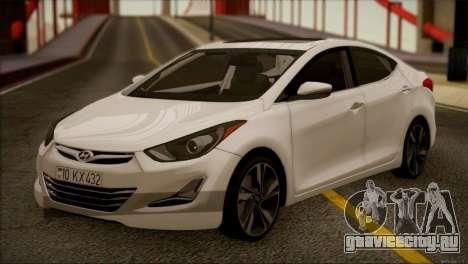 Hyundai ELANTRA 2015 STOCK для GTA San Andreas вид слева