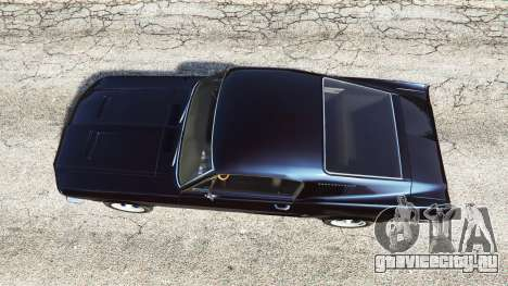 Ford Mustang 1968 v1.1 для GTA 5 вид сзади