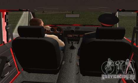 ВАЗ 2106 Учебный для GTA San Andreas вид сзади слева
