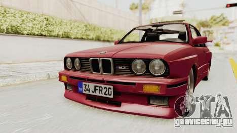 BMW M3 E30 1988 для GTA San Andreas вид справа