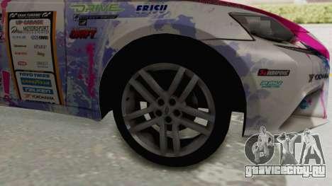 Lexus IS350 FSport Megami no Aqua для GTA San Andreas вид сзади