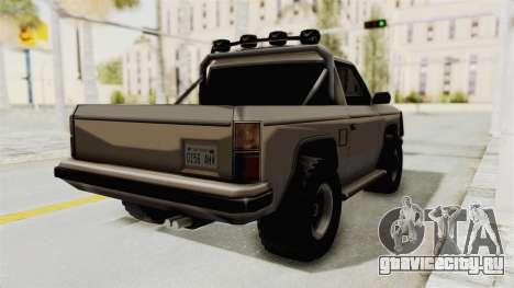 Rancher Style Bronco для GTA San Andreas вид сзади слева