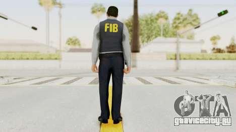 GTA 5 F.I.B. Ped для GTA San Andreas третий скриншот