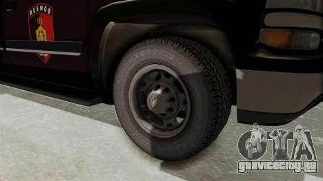 Chevrolet Suburban Indonesian Police RESMOB Unit для GTA San Andreas вид сзади