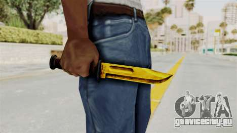 Knife Gold для GTA San Andreas третий скриншот