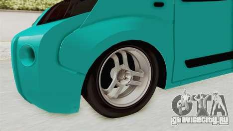 Fiat Fiorino v2 для GTA San Andreas вид сзади