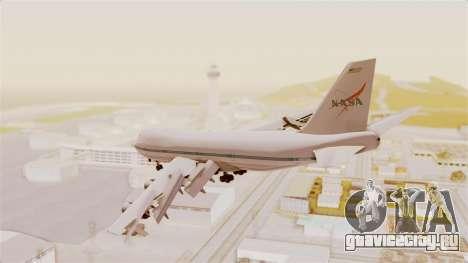 Boeing 747-123 NASA для GTA San Andreas вид сзади