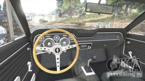 Ford Mustang 1968 v1.1 для GTA 5 вид сзади справа