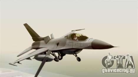 F-16 Fighting Falcon для GTA San Andreas вид сзади слева