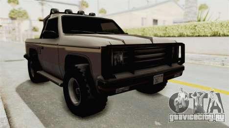 Rancher Style Bronco для GTA San Andreas вид справа
