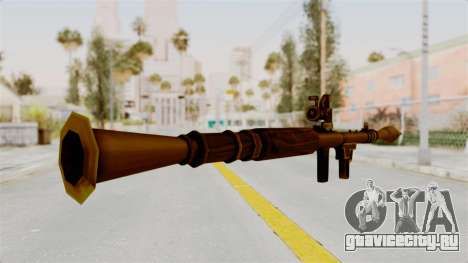 Rocket Launcher Gold для GTA San Andreas третий скриншот