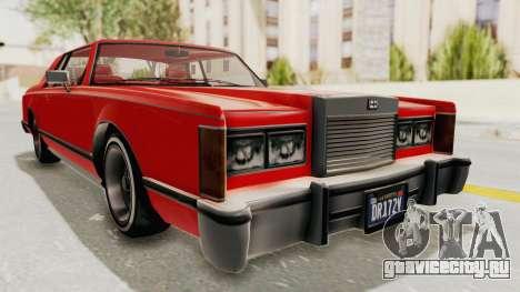 GTA 5 Dundreary Virgo Classic Custom v2 для GTA San Andreas вид справа