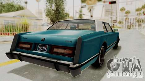GTA 5 Dundreary Virgo Classic Custom v3 IVF для GTA San Andreas вид сзади слева