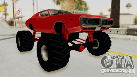 Dodge Charger 1971 Monster Truck для GTA San Andreas вид справа