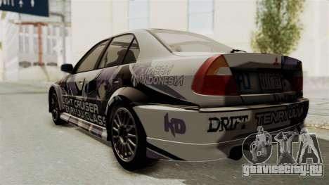 Mitsubishi Lancer Evolution VI Tenryuu Itasha для GTA San Andreas вид сзади слева