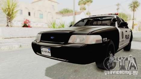 Ford Crown Victoria SFPD для GTA San Andreas