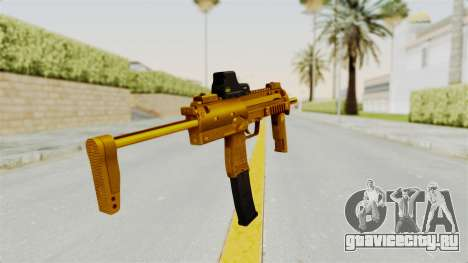 MP7A1 Gold для GTA San Andreas третий скриншот