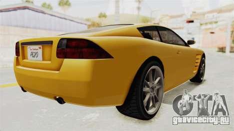 GTA 5 Ocelot F620 SA Lights для GTA San Andreas вид слева