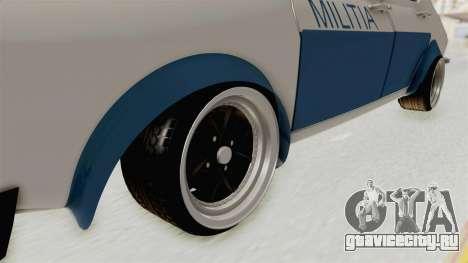 Dacia 1300 Stance Police для GTA San Andreas вид сзади