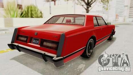 GTA 5 Dundreary Virgo Classic Custom v2 для GTA San Andreas вид сзади слева