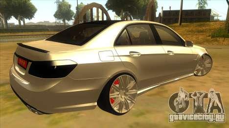 Mercedes Benz E250 Makam Aracı для GTA San Andreas вид справа