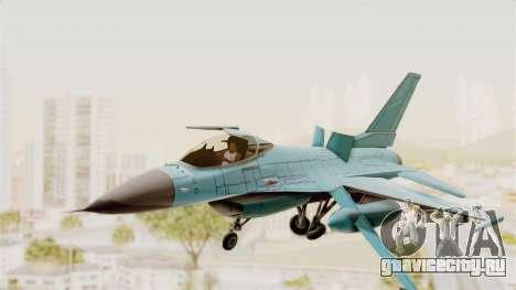 F-16 Fighting Falcon Civilian для GTA San Andreas вид сзади слева