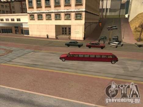VAZ 2109 17-door для GTA San Andreas вид изнутри