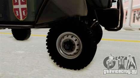 УАЗ-3153 Охотник Сербские Войска для GTA San Andreas вид сзади