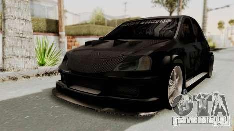 Dacia Logan Loco Tuning для GTA San Andreas вид сзади слева