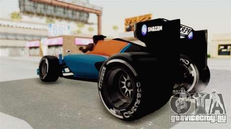 Rio Haryanto 88 F1 Manor Racing для GTA San Andreas вид справа