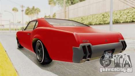 GTA 5 Declasse Sabre GT2 IVF для GTA San Andreas вид сзади слева
