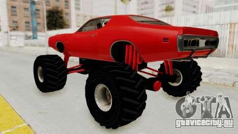 Dodge Charger 1971 Monster Truck для GTA San Andreas вид слева