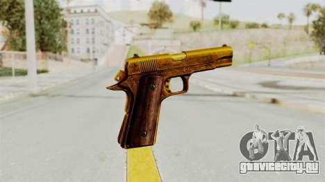 M1911 Gold для GTA San Andreas третий скриншот