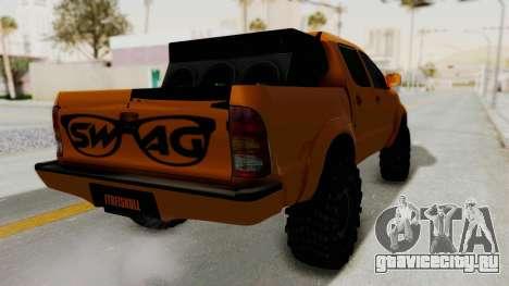 Toyota Hilux 2010 Off-Road Swag Edition для GTA San Andreas вид справа