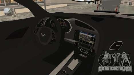 Chevrolet Corvette Stingray C7 Monster Truck для GTA San Andreas вид изнутри