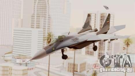 MIG-29A IRIAF для GTA San Andreas вид сзади слева