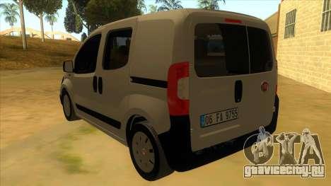 Fiat Fiorino Combi Mix для GTA San Andreas вид сзади слева