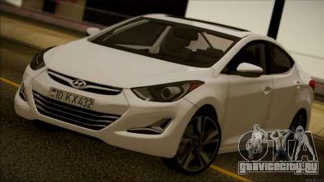 Hyundai ELANTRA 2015 STOCK для GTA San Andreas