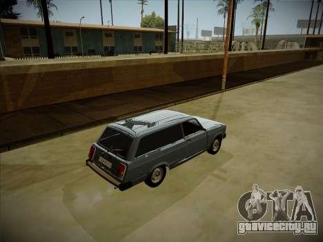 ВАЗ 2104 с большим багажником для GTA San Andreas вид сзади