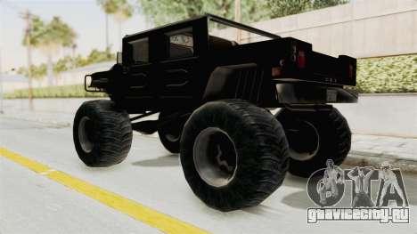 Hummer H1 Monster Truck TT для GTA San Andreas вид сзади слева