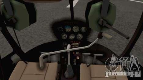 Helicopter de la Policia Nacional del Paraguay для GTA San Andreas вид сзади