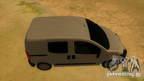 Fiat Fiorino Combi Mix для GTA San Andreas вид изнутри