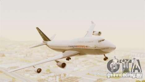 Boeing 747-400 Malaysia Airlines Tabung Haji для GTA San Andreas вид сзади слева