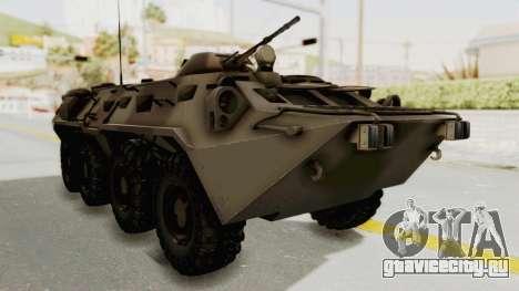 BTR-80 Desert Turkey для GTA San Andreas вид справа